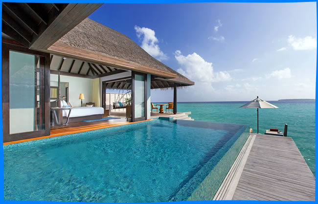 Anantara Kihavah Maldives Villas beach side fine dining