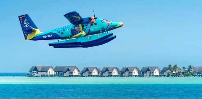 Four Seasons Resort Maldives Launches Exclusive Seaplane The Flying Triggerfish