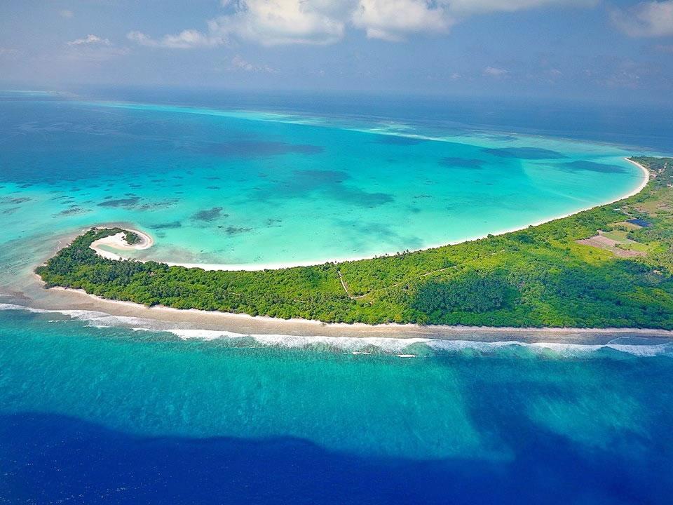 Kelaa island aerial