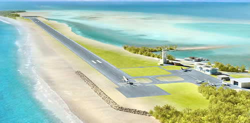 INTL AIRPORT IN MALDIVES PROPOSED ULTRA-LUXURY TOURISM ZONE WELCOMES MAIDEN FLIGHT