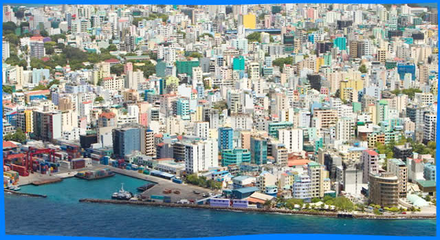 male city aerial