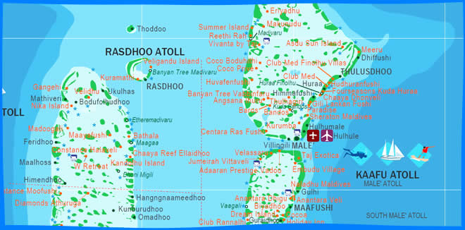 Llhaviyani atoll map