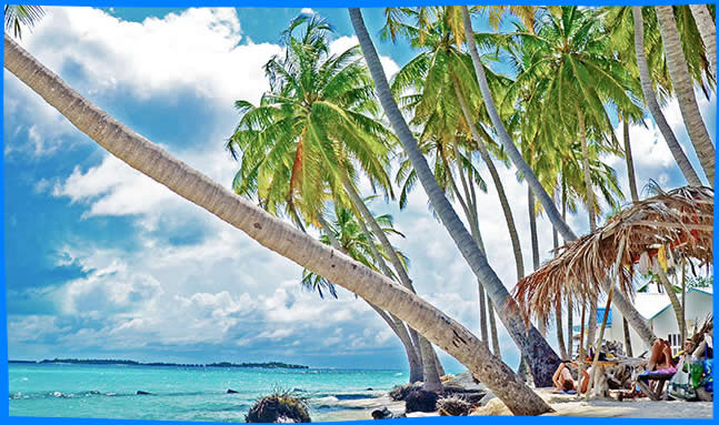 Maafushi Island nice bikini beach