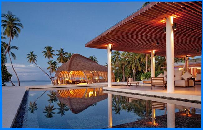 Park Hyatt Maldives Hadahaa - lobby and infinity swimming pool