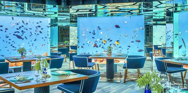 Ресторан Sea в Anantara Kihavah
