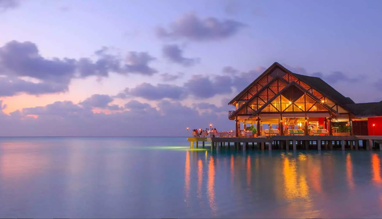 The SEA.FIRE.SALT restaurant at Anantara Dhigu Maldives Resort