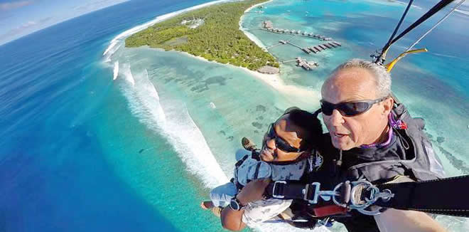 SKYDIVING COMES TO MALDIVES