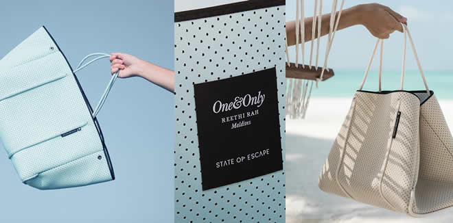 ONE&ONLY REETHI RAH, LUXURY ACCESSORIES BRAND STATE OF ESCAPE LAUNCH EXCLUSIVE NEW CAPSULE COLLECTION
