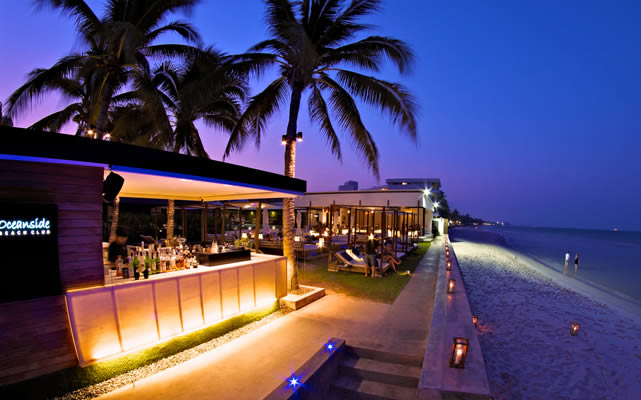 Oceanside Beach Club Restaurant hua hin
